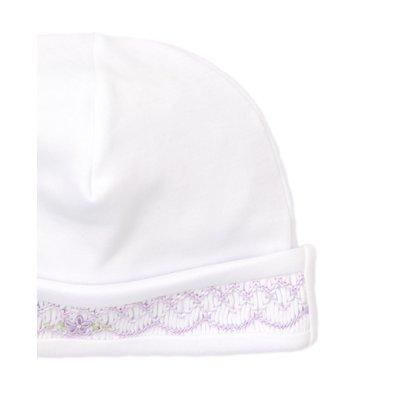 Kissy Kissy CLB Fall Bishop White w/Lilac Smocked Hat