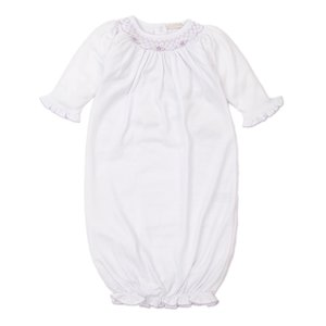 Kissy Kissy CLB Fall Bishop White w/Lilac Smocked Sack