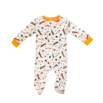 Lulu Bebe LLC Clemson Boy Footies Pajama