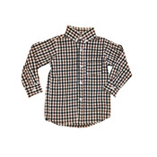 Remember Nguyen Brown Plaid Brother Shirt