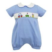 Petit Bebe Golf Blue Stripe Knit Bubble