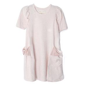 Mabel & Honey Girl Power Pink Stripe Dress