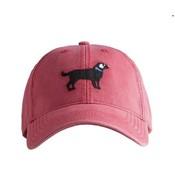 Harding Lane Black Lab Weathered Red Baseball Hat