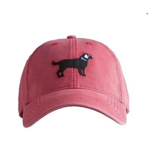Harding Lane Black Lab Weathered Red Baseball Hat