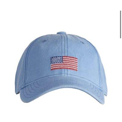 Harding Lane American Flag Light Blue Baseball Hat