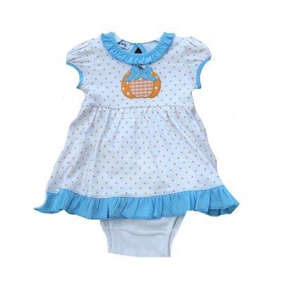 Magnolia Baby Sweetest Pumpkin Applique S/S Dress