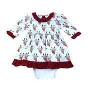 Magnolia Baby Rudolph Printed L/S Dress Set
