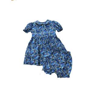 Petit Ami Blue Floral Dress w/Bloomer