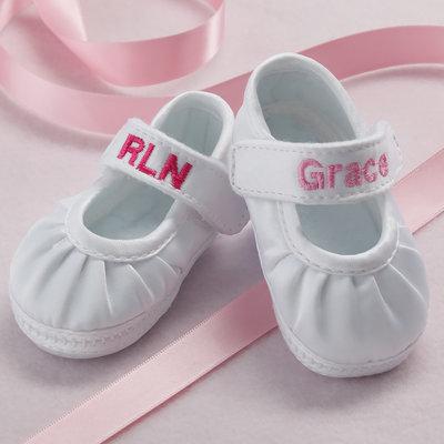 Baby Deer Girl's Monogram Shoe