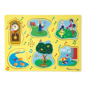 Melissa & Doug Sing-Along Nursery Rhymes 2 Song Sound Puzzle