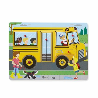 Melissa & Doug The Wheels On the Bus Song Sound Puzzle