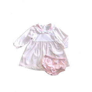 Baby Bliss Olivia Pink Gingham Dress w/ Diaper Cover