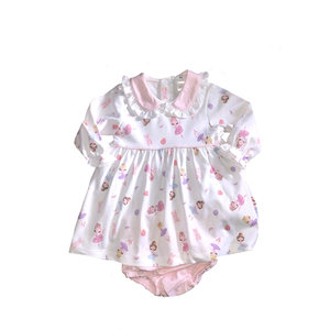 Baby Bliss Ballerinas Pima Dress w/ Diaper Cover