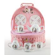 Delton Products Unicorn Tea Set with Basket