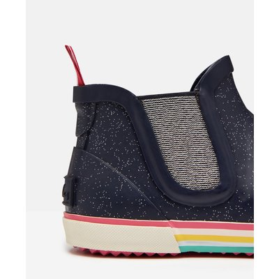 Navy Glitter Short Rainboot