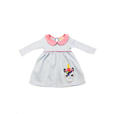 Luigi Unicorn Head Stripe Dress