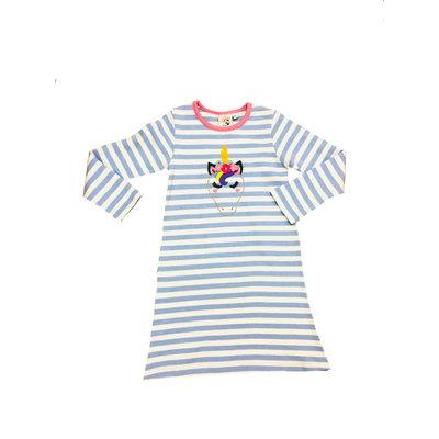 Luigi Unicorn Head Stripe Aline Dress