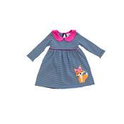 Luigi Fox w/Flowers Stripe Dress