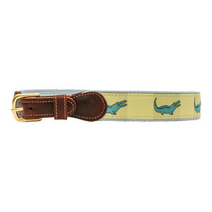 J Bailey Yellow Gator Belt