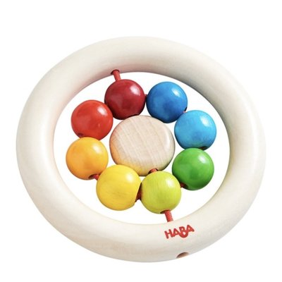 HABA Wooden Clutching Toy Rainbow Balls
