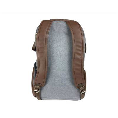 Itzy Ritzy Handsome Heather Gray Boss Backpack Diaper Bag