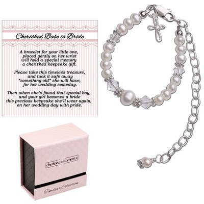 Cherished Moments Baby to Bride Sterling Silver Cross Bracelet