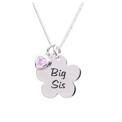 Cherished Moments Big Sis Flower Sterling Necklace