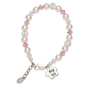 Cherished Moments Big Sis Sterling Silver Flower Bracelet