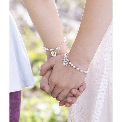 Cherished Moments Big Sis Sterling Silver Flower Bracelet