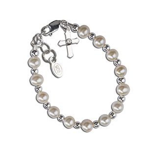 Cherished Moments Kaitlyn Sterling Silver Cross Bracelet