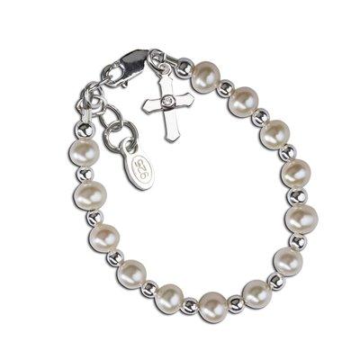 Cherished Moments Kaitlyn Sterling Silver Cross Bracelet