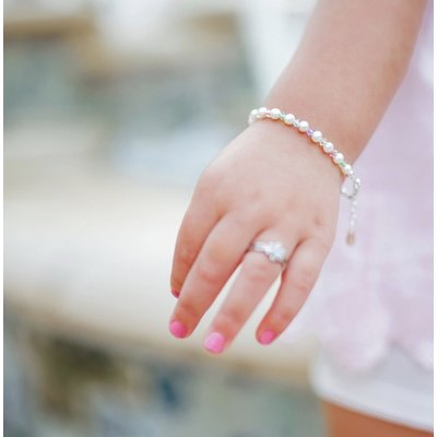Cherished Moments Daniela Sterling Silver Multi Pearl Bracelet
