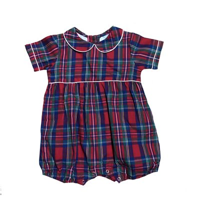 Lulu Bebe LLC Christmas Plaid Boy Bubble