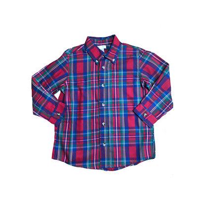 Lulu Bebe LLC Christmas Plaid Button Down Shirt
