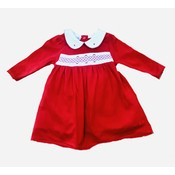 Magnolia Baby Julie and Jame's Classic Red Smocked Collared Dress