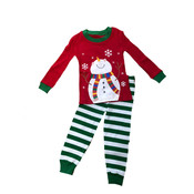 Sara's Prints Happy Snowman Long John PJ's