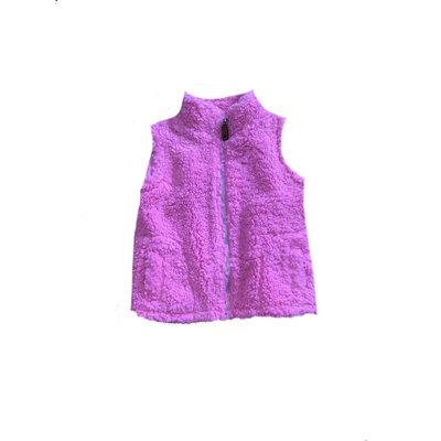 SouthBound Pink Sherpa Vest