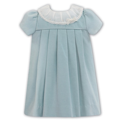 Sarah Louise Mint Blue Velvet Dress