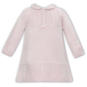 Sarah Louise Pink Sweater Dress