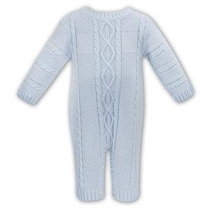 Sarah Louise Blue Sweater Romper