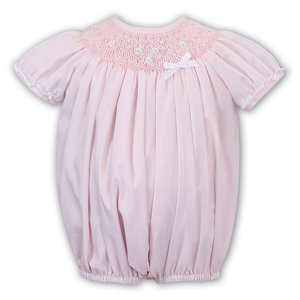 Sarah Louise Pink Smocked Bishop Bubble