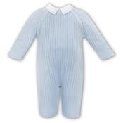 Sarah Louise Blue Knit Sweater Romper w/Collar