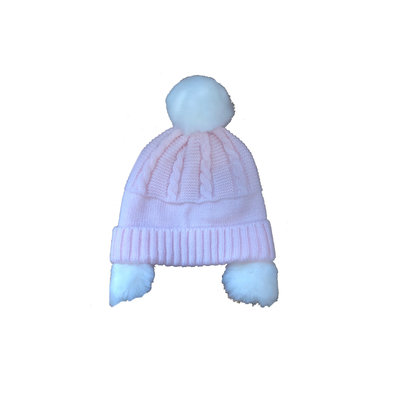 Sarah Louise Pink Sweater Pom Pom Hat