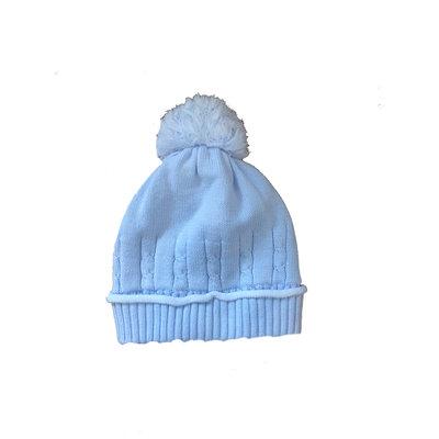 Sarah Louise Blue Cable Knit Hat