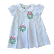 Lulu Bebe LLC White Embroidered Wreath Dress