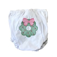 Lulu Bebe LLC Wreath Embroidered Bloomer