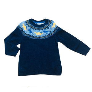JoJo Maman Bebe Dino Fair Isle Sweater