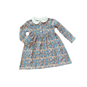 JoJo Maman Bebe Vintage Floral Peter Pan Dress