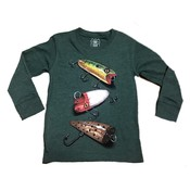Wes and Willy Fishing Lures Long Sleeve T Evergreen Blend