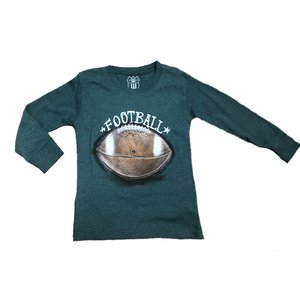Wes and Willy Football Long Sleeve T Evergreen Blend